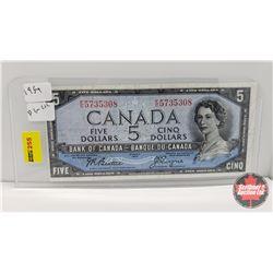 Canada $5 Bill 1954DF : Beattie/Coyne FC5735308