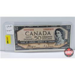 Canada $50 Bill 1954DF : Coyne/Towers AH0666488