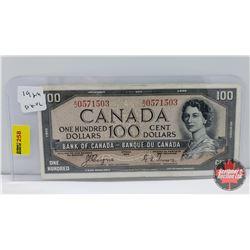 Canada $100 Bill 1954DF : Coyne/Towers AJ0571503