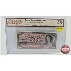 Canada $1000 Bill 1954DF : Coyne/Towers AK0011620 (BCS Cert: VF25)