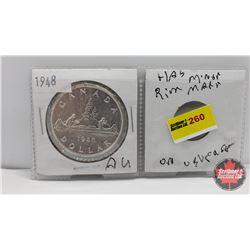 Canada Silver Dollar 1948 (Minor Rim Mark on Reverse)