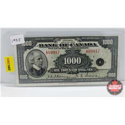 Bank of Canada $1000 Bill 1935 Osborne/Towers A09917
