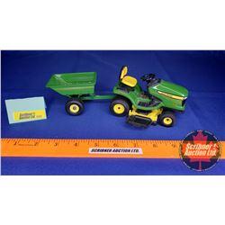 John Deere X324 Garden Tractor & Mower Deck & Wagon (Scale: 1/16)
