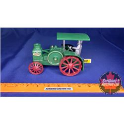 """Rumely Oil Pull Tractor with Pewter Driver (Embossed """"R554"""")"""