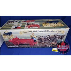 """Precision McCormick-Deering 200-H Spreader with Team """"Horse Drawn Heritage - Ertl Collectibles""""  (Sc"""