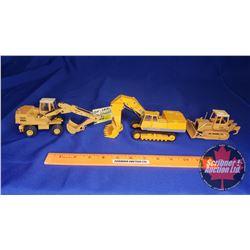 Construction Toy Trio : Hoe, Shovel & Crawler (Scale: 1/50)