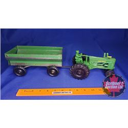Duo (Scale: 1/16) : John Deere Tractor with Driver & Flare Box Wagon