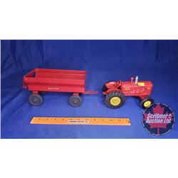 Massey Harris 44 Toy Tractor & Wagon