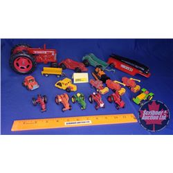 Tray Lot: Variety of Small Toy Tractors/Implements etc !