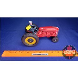 Toy Tractor with Driver (Red) (DieCast) (Scale: 1/16)