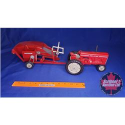 Tru-Scale Tractor with Pull Type Combine (Scale: 1/16) (Restored)