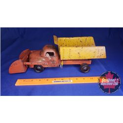 "Metal Toy Dump Truck with Front Bucket (Lever) (14""L x 4-1/2""W x 5""H)"