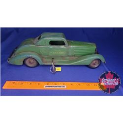 "Rare Vintage Marx (c.1930's) Tin Fixed Wind Up Toy Car ""Siren Police Car"" (Patent #1962870) (14-1/2"""