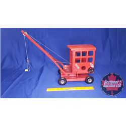 "Vintage Metal Toy Crane (Tri-Ang) (L. Bros. Ltd.) (Made in England) (10-1/2"" H to top of Cab) (Crane"