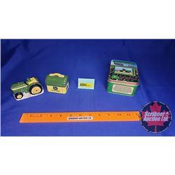 John Deere Collector Combo : Lunch Box Salt & Pepper Set & Harvest Heritage Metal Collector Card Set