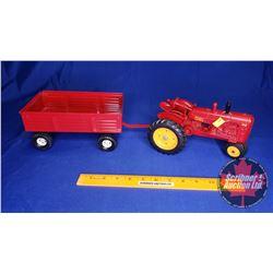 Massey-Harris 44 Tractor & Wagon (Scale: 1/16)