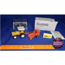 Minneapolis Moline G750 (Scale: 1/64) AND Allis-Chalmers Roto Baler (Scale: 1/64)