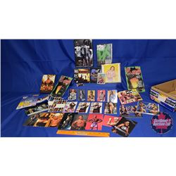 Box Lot : Variety of Wrestling Cards, Accessories; Action Figures; DVDs; etc