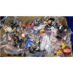Wrestling Tray Lot : Large Variety Parts & Pieces of Action Figures