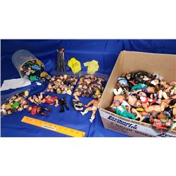 Wrestling Box Lot : Large Variety Parts & Pieces of Action Figures