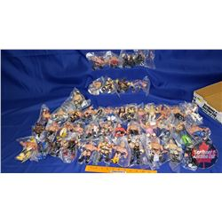 "Tray Lot: 46 Wrestling Action Figures (4-1/2""H)"