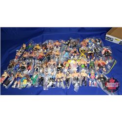"Tray Lot : 49 Wrestling Action Figures (5""H)"