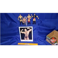 Randy Orton Box Lot : Autographed 8x10 Photograph & Variety Action Figures (4)