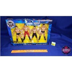 Smack Down Super Stars Action Figures (7`H) : John Layfield; Chris Benoit; Eddie Guerrero; Batista