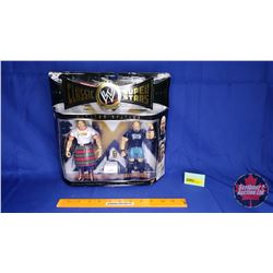"""Classic Super Stars Poseable Action Figures : """"Rowdy"""" Roddy Piper & Stone Cold Steve Austin (7""""H)"""