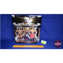 """Classic Super Stars Poseable Action Figures : """"Rowdy"""" Roddy Piper & Jimmy """"Super Fly"""" Snuka (7""""H)"""