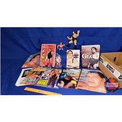 Andre the Giant Box Lot : Magazines; Book; DVD; Action Figures (5)