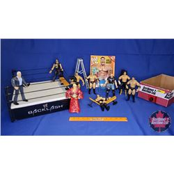 WWE Backlash Ring w/ Props; Magazine & Poseable Jakks Action Figures (8) - Including : Ric Flair; Dw