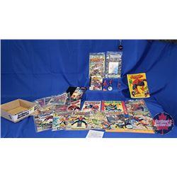 Spiderman Tray Lot : Comics (22); Collector Figures & Toys; Mini Comics(2); Key Chain