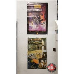 "Star Wars ""The Empire Strikes Back"" Poster 1997 Print (34""H x 22""W) & Star Wars Vinyl Wallpaper 1978"