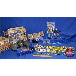 Batman Collection : Batman Trigger Activated Villain Cruncher Batwing; Batmobile; DC Justice League