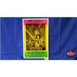 "Star Wars ""Return of Jedi"" Cardboard  Movie Poster Playbill (Stamped: One Showprint Inc. Earl Park,"