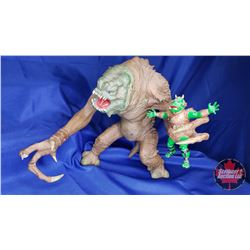 """Star Wars """"Rancor Monster"""" Toy (Damaged) & Star Wars """"Essential Guide to Alien Species"""" Book"""