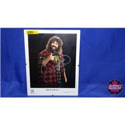 Autographed Photographs in Flushmount Glass Frame : Mick Foley (Frame Size : 8x10)