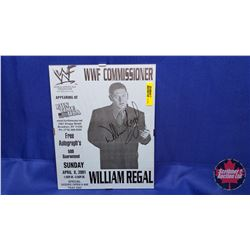 Autographed Photographs in Flushmount Glass Frame : William Regal (Frame Size : 8x10)