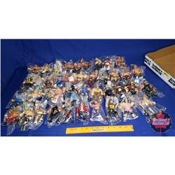 """Tray Lot : 41 Wrestling Action Figures (4-1/2""""""""H)"""
