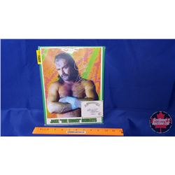 """Autographed Photographs in Flushmount Glass Frame : Jake """"The Snake"""" Roberts (Frame Size : 8x10)"""
