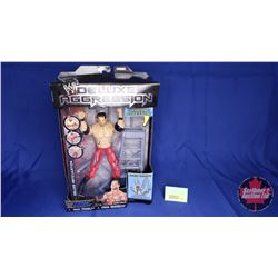 """Deluxe Aggression Poseable Action Figure : Chris Benoit & Ladder (7""""H)"""