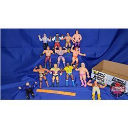 "Box Lot : Flexible Rubber Wrestling Figures (12) : Including SD Jones; Ultimate Warrior; Jimmy ""Supe"