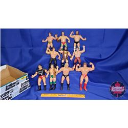Box Lot : Flexible Rubber Wrestling Figures (10) : Magnificent Muraco; Greg Valentine; Ricky The Dra