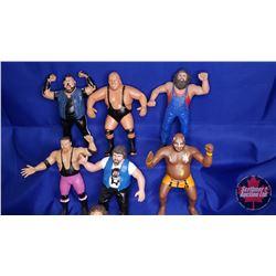 Box Lot : Flexible Rubber Wrestling Figures (10) : Iron Sheik; Andre the Giant; King Kong Bundy; Geo