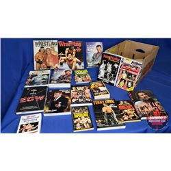 Box Lot : Variety of Hardcover & Paperback Wrestling Themed Books (17 Total)