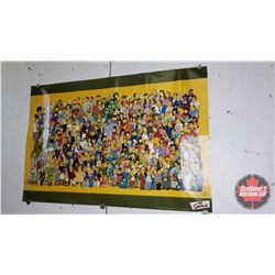 """Variety of Comic Books (6) & Simpsons Poster (24""""H x 36""""W)"""