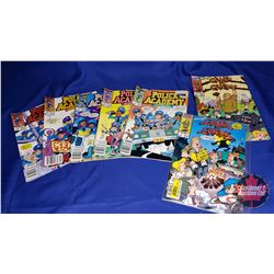 Marvel Comic Books (7) : Police Academy Series No. 1 to 5 & Camp Candy Series No. 1 & 2