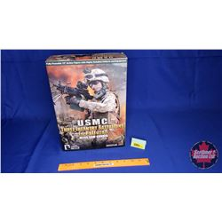 "Hot Toys - 12"" Action Figure with Highly Detailed Uniform & Equipment : USMC Three Infantry Battalio"