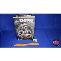"Hot Toys - 12"" Action Figure with Highly Detailed Uniform & Equipment : USMC SNIPER OPERATION IRAQI"